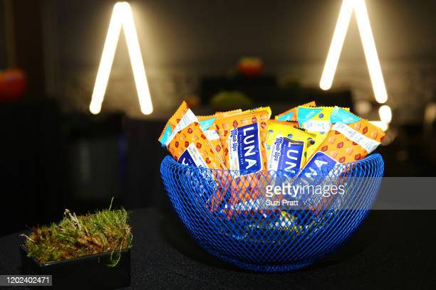 View of LUNA bars on display during the 2020 Women at Sundance Celebration hosted by Sundance Institute and Refinery29, Presented by LUNA at Juniper...