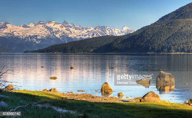 View Of Lutak Inlet And The City Of Haines, Southeast Alaska, Summer, Hdr Image