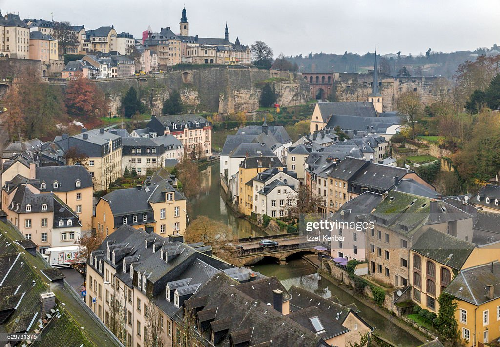 View of luxembourg city old town grund stock photo getty images view of luxembourg city old town grund stock photo thecheapjerseys Image collections
