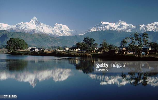 View of Machapuchare from Pokhara, Nepal