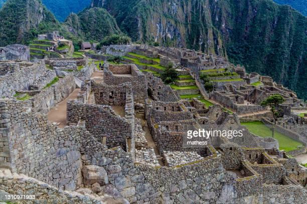 view machu picchu ruins peru