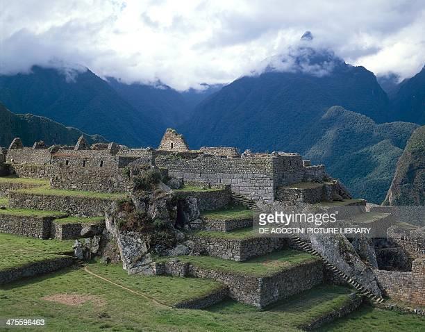 View of Machu Picchu Urubamba Valley Peru Inca civilisation 15th century
