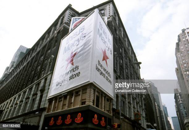 A view of Macy's department store at 34th Street and Broadway in the Herald Square area in1976 in New York City New York