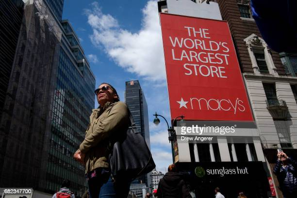 A view of Macy's flagship store May 12 2017 in the Herald Square neighborhood in New York City The US Commerce Department says retail sales rose 04...