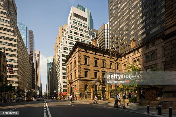 view of madison avenue - madison avenue stock pictures, royalty-free photos & images