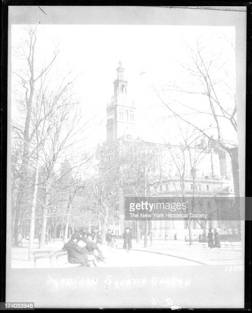 View of Madison Square Park showing Madison Square GardenNew York New York late 1900s