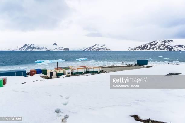 View of MAE Emergency Antarctic Module on November 05 2019 in King George Island Antarctica