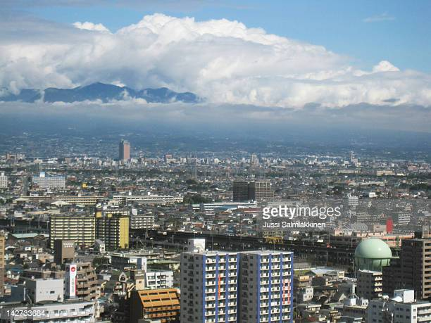 view of maebashi city - maebashi city stock photos and pictures