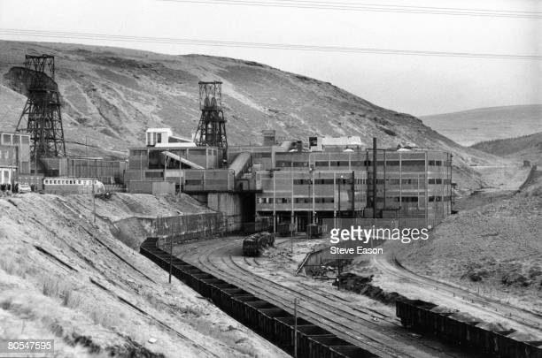 A view of Maerdy Lodge colliery in Gwent during a strike 5th March 1985 Communist party leaders led mine workers back to work without any settlement...
