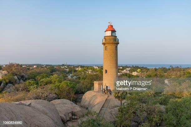 View of Mahabalipuram lighthouse, Tamil Nadu, India