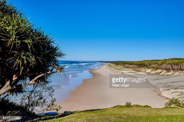 View of Main Beach,North Stradbroke Island,Queensland,Australia