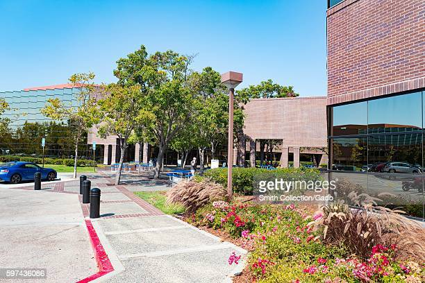View of main building at the headquarters of professional social networking company LinkedIn in the Silicon Valley town of Mountain View California...