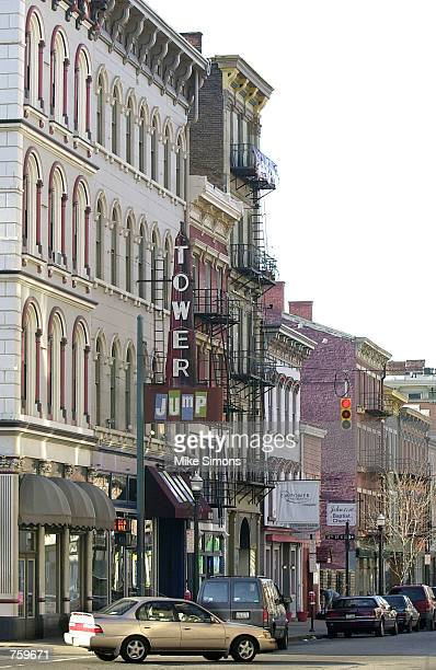 A view of Main Street in the Over the Rhine neighborhood is shown March 27 2002 in Cincinnati OH Main Street Ventures a nonprofit company offers tech...