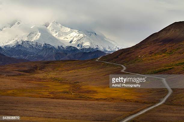 View of majestic Mount McKinley in Fall