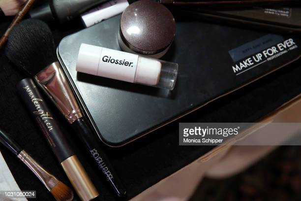 A view of make up backstage at the Dennis Basso fashion show during New York Fashion Week at Cipriani 42nd Street on September 10 2018 in New York...
