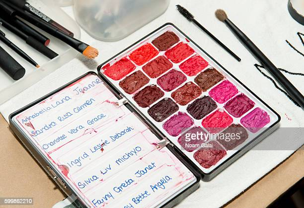 A view of makeup tools backstage at the Rachel Comey fashion show during New York Fashion Week September 2016 on September 7 2016 in New York City