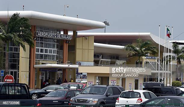 View of Malabo's airport terminal on February 3 during the African Cup of Nations football tournament AFP PHOTO / ISSOUF SANOGO