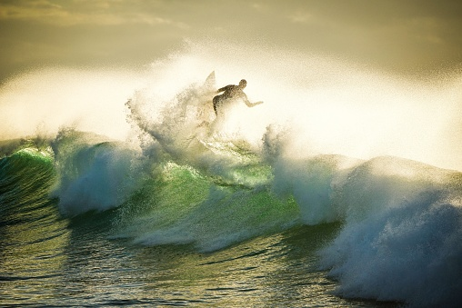 View Of Man Surfing On Wave - gettyimageskorea