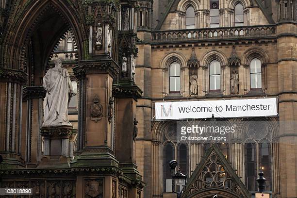 A view of Manchester City Town Hall in Albert Square as the authority announces it may have to shed up to 2000 jobs on January 13 2011 in Manchester...