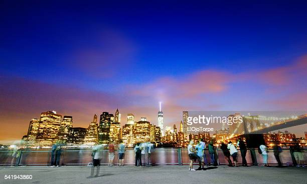 View of Manhattan from Brooklyn, New York.