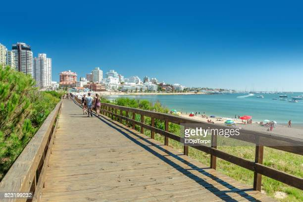 View of Mansa beach, Punta del Este city, Uruguay