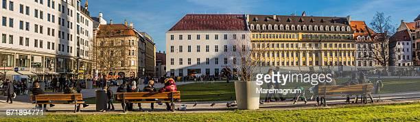View of Marienhof Square