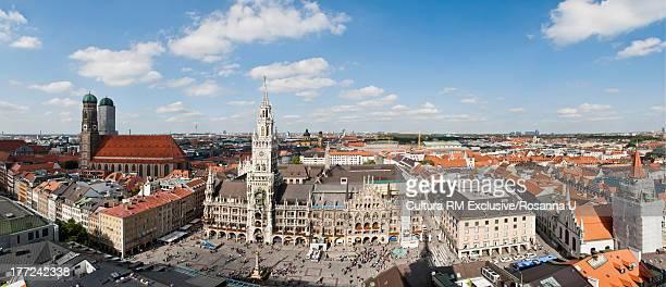 View of Marienplatz from St Peter's, Munich, Germany