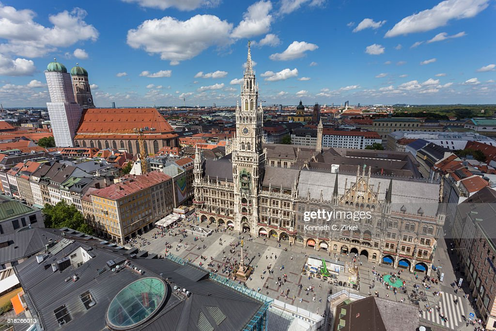 View of Marienplatz, Munich : Stock Photo