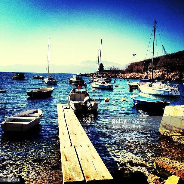 view of marina on sunny day - rijeka stock pictures, royalty-free photos & images