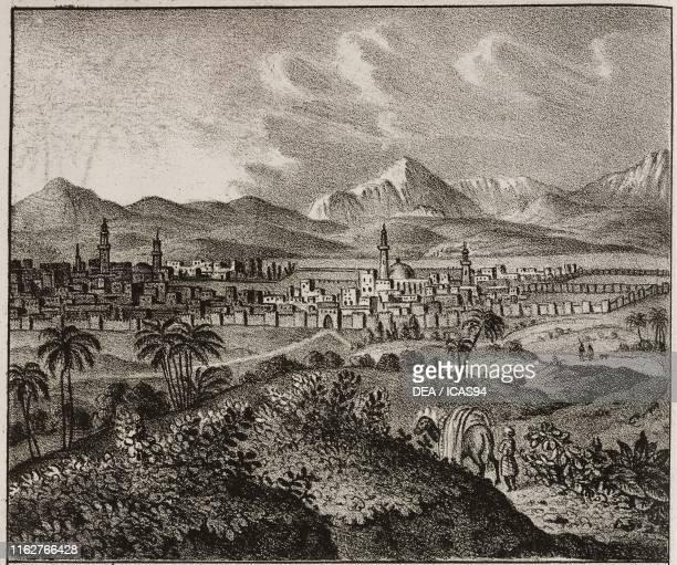 View of Marrakesh Morocco Africa lithograph from Galleria universale di tutti i popoli del mondo ossia storia dei costumi religioni riti governi...