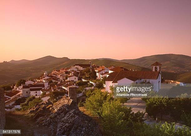View of Marvao at Sunset