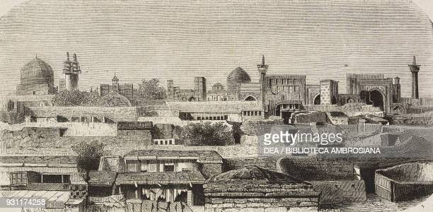 View of Mashhad Iran drawing by Alexandre de Bar from Narrative of a Journey into Khorasan by N de Khanikoff illustration from Il Giro del mondo...