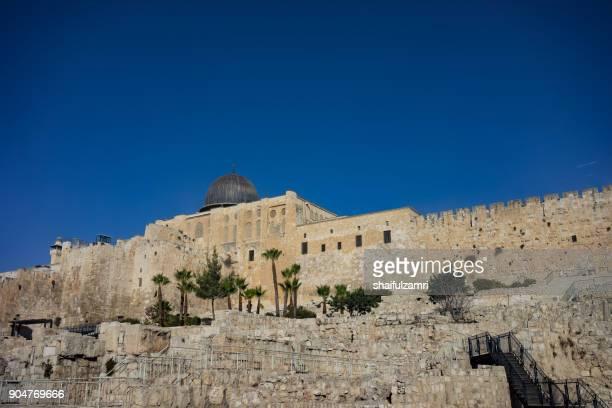 View of Masjidil Al-Aqsa from outside of Baitulmuqaddis
