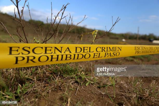 A view of mass graves on the outskirts of Veracruz city Veracruz state on March 16 2017 Over the past six months Mexican authorities have found at...
