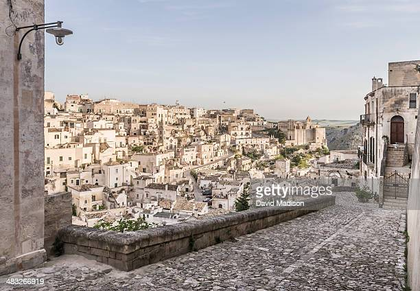 view of matera, italy - matera italy stock pictures, royalty-free photos & images