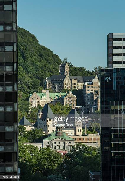 A view of McGill University is viewed from the Fairmont Queen Elizabeth on June 30 2015 in Montreal Quebec Canada Montreal the largest city in Quebec...
