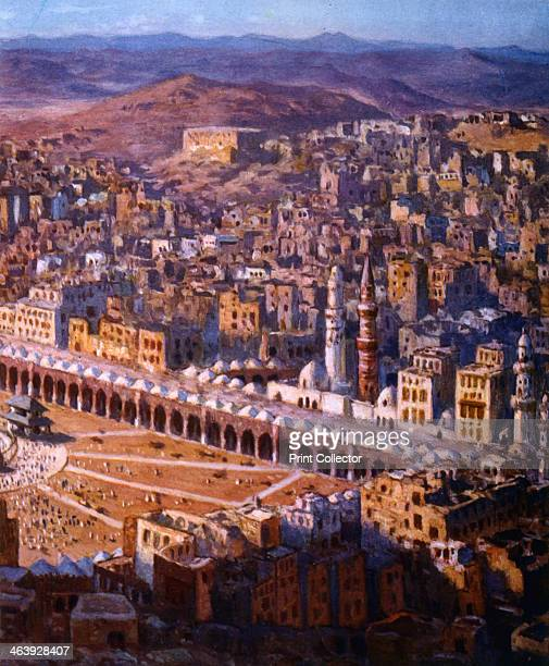 'View of Mecca' 1918 Illustration for La Vie de Mohammed Prophete d'Allah by Etienne Dinet and Sliman Ben Ibrahim