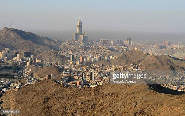 A view of Mecca from alNoor mountain where the Hira cave is located on September 28 2014 in Saudi Arabia