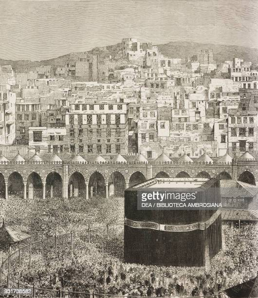 View of Mecca with the cloister of the Great Mosque and the Kaaba Saudi Arabia illustration from the magazine The Graphic volume XXV no 643 March 25...