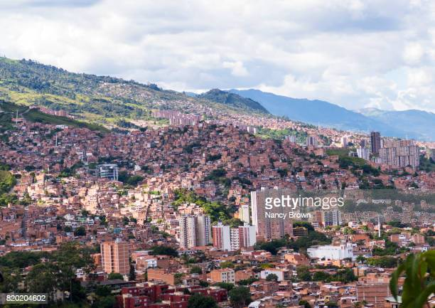 View of Medellin Colombia from the surrounding mountains.
