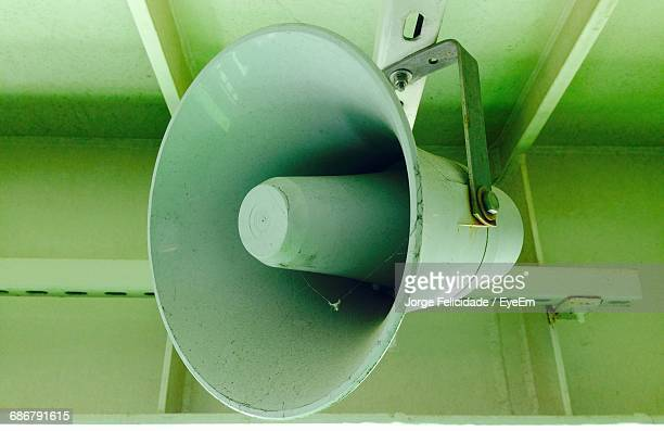 View Of Megaphone Hanging From Ceiling