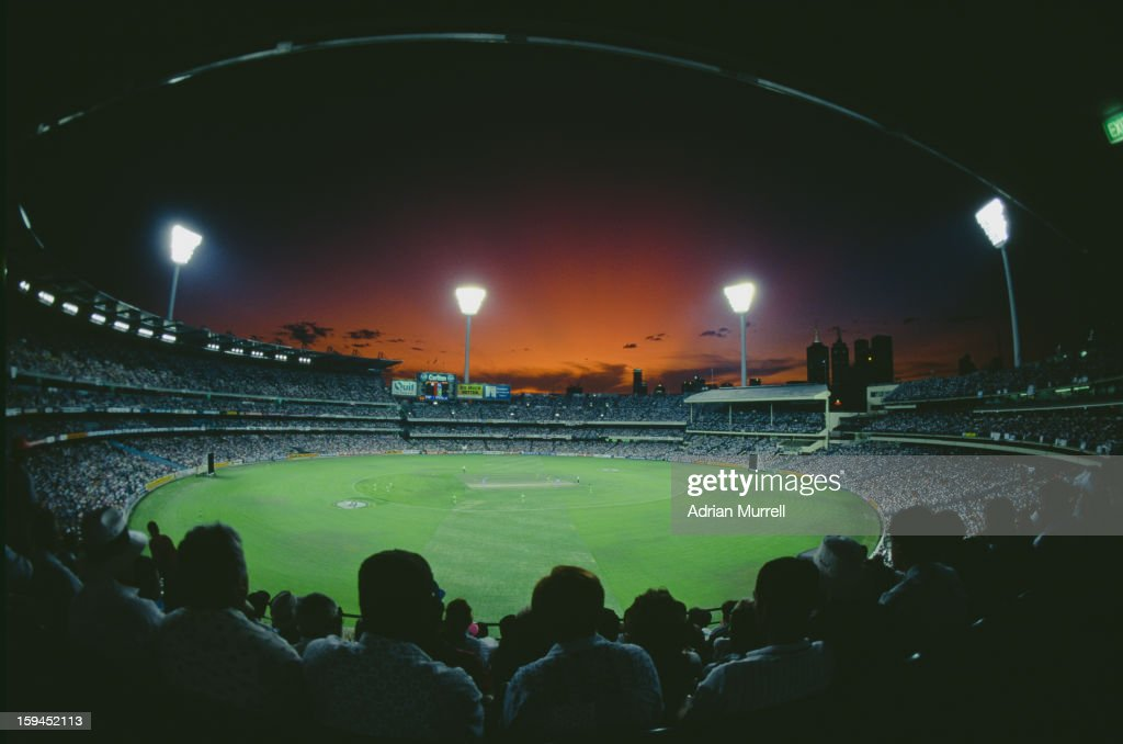 A view of Melbourne Cricket Ground during the Cricket World Cup final between England and Pakistan, Melbourne, Australia, 25th March 1992. Pakistan won the match by 22 runs.