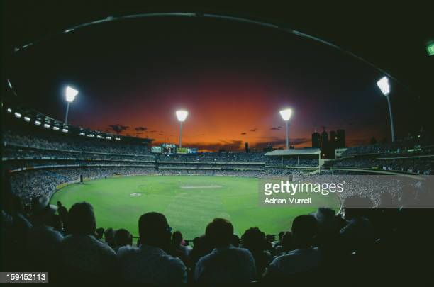 View of Melbourne Cricket Ground during the Cricket World Cup final between England and Pakistan, Melbourne, Australia, 25th March 1992. Pakistan won...