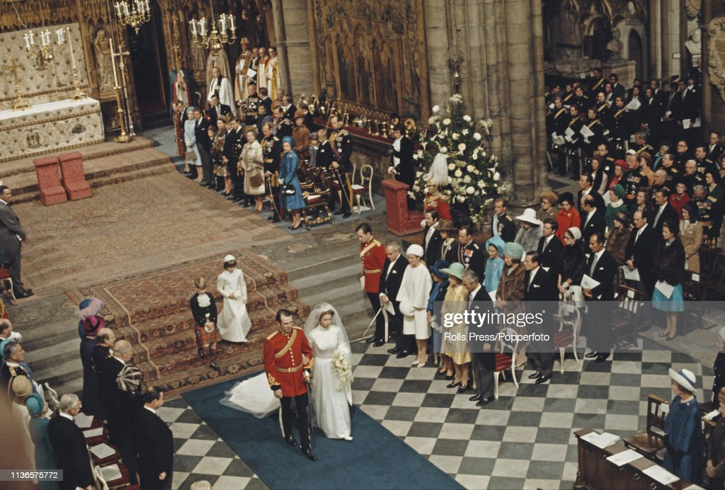 Wedding of Princess Anne And Mark Phillips : News Photo