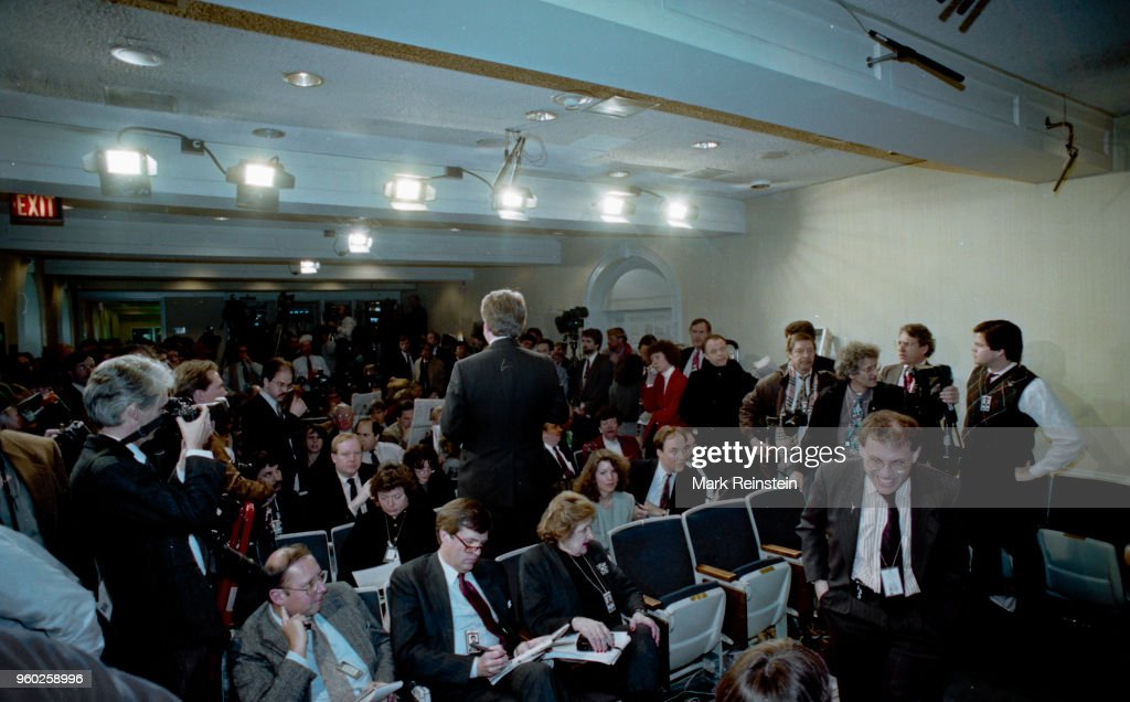 Journalists At White House Press Briefing : News Photo