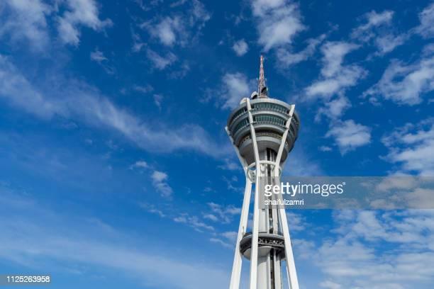 view of menara alor setar over beautiful blue sky at kedah, malaysia. - shaifulzamri bildbanksfoton och bilder