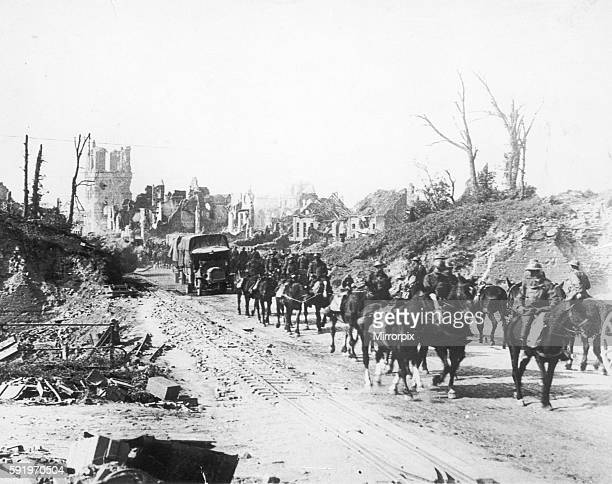 View of Menin Gate. Ypres, Belgium. September 1918.