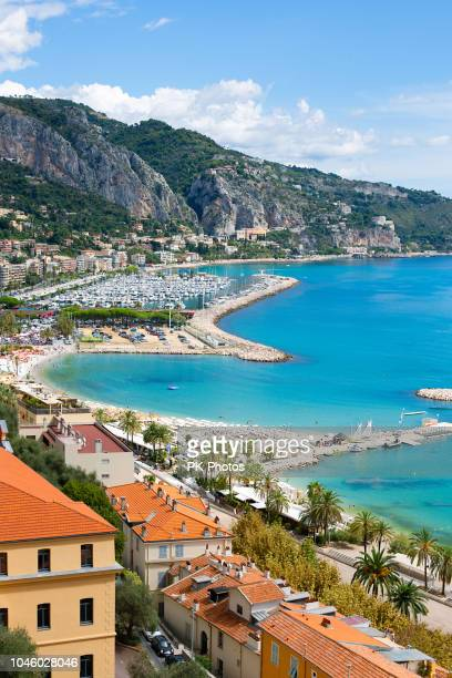 view of menton, côte d'azur, france - french riviera stock pictures, royalty-free photos & images