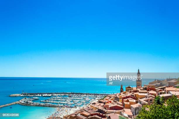 View of Menton, French Riviera, France