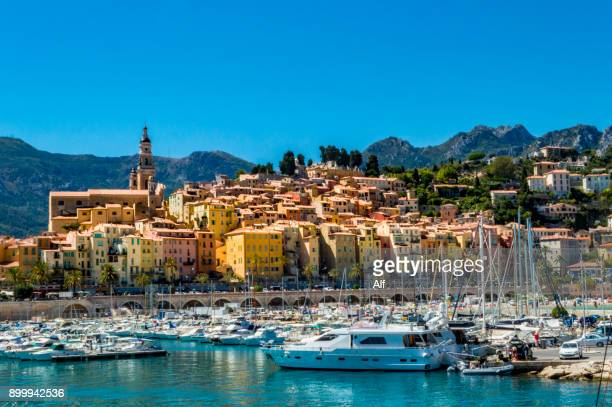 View of Menton from the harborMenton, French Riviera, France